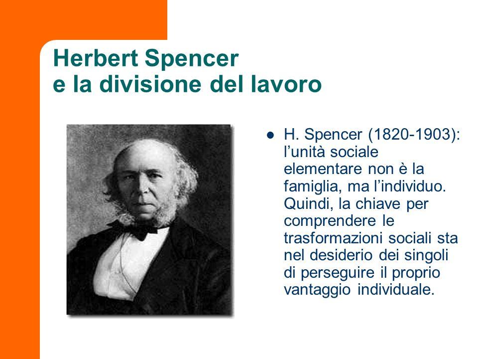 Herbert Spencer e la divisione del lavoro