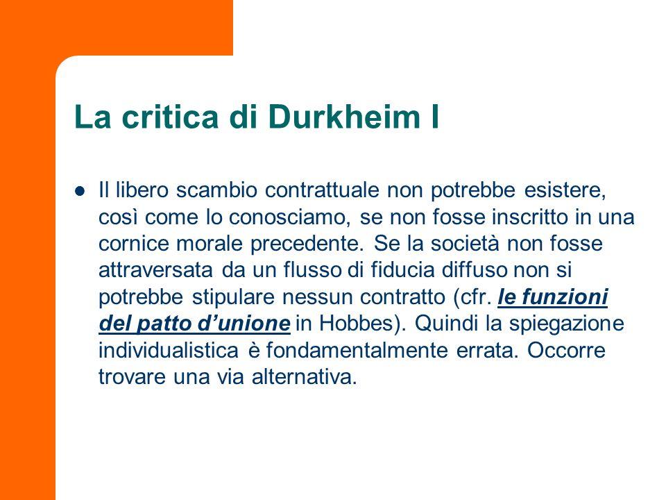 La critica di Durkheim I