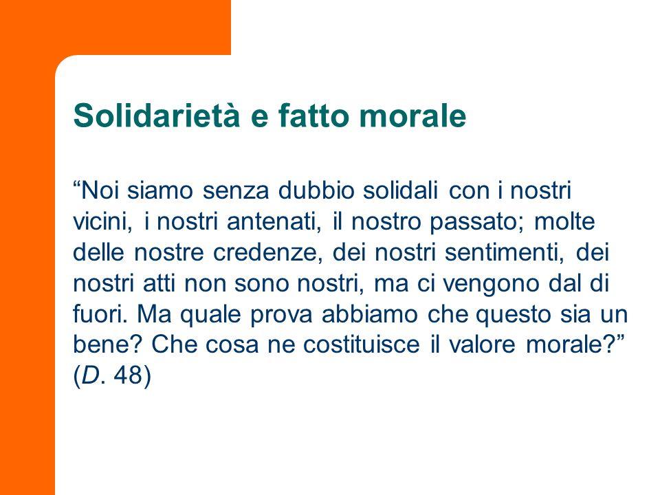 Solidarietà e fatto morale