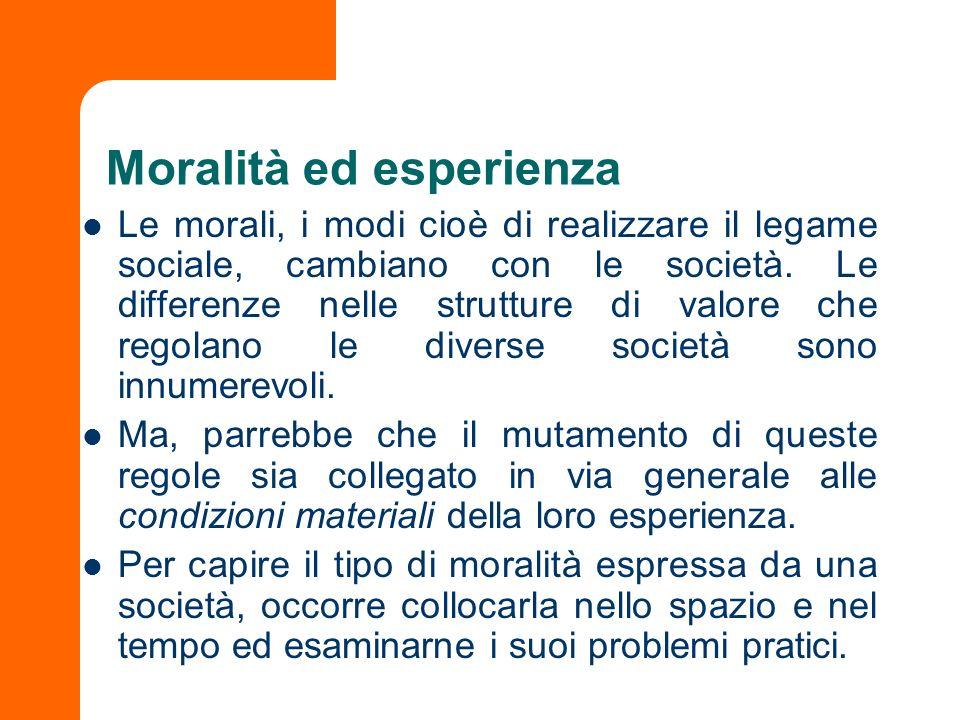 Moralità ed esperienza