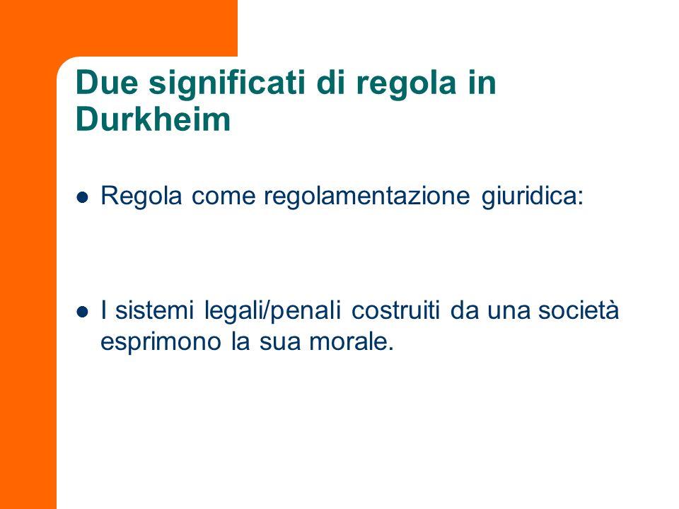 Due significati di regola in Durkheim