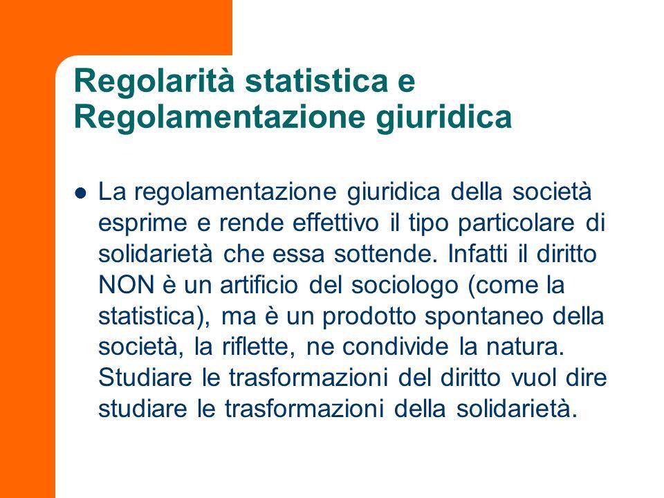 Regolarità statistica e Regolamentazione giuridica