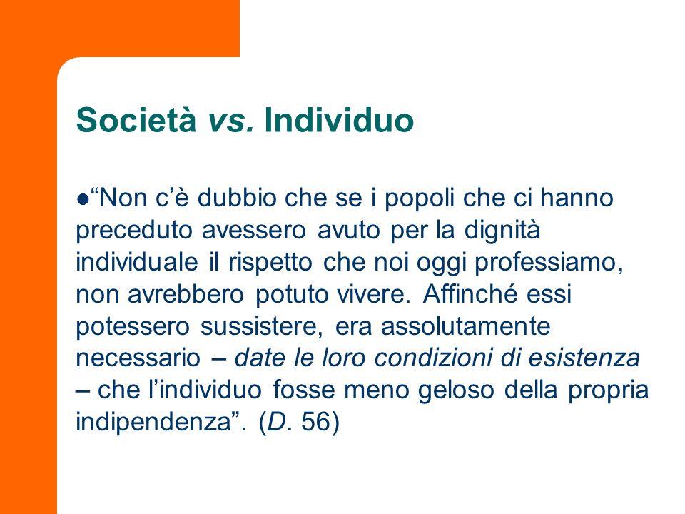 Società vs. Individuo
