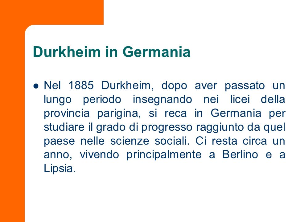 Durkheim in Germania
