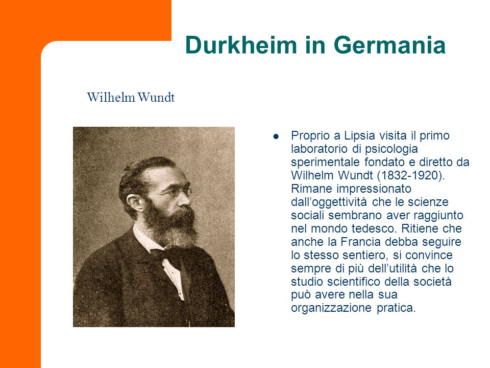 Durkheim in Germania Wilhelm Wundt