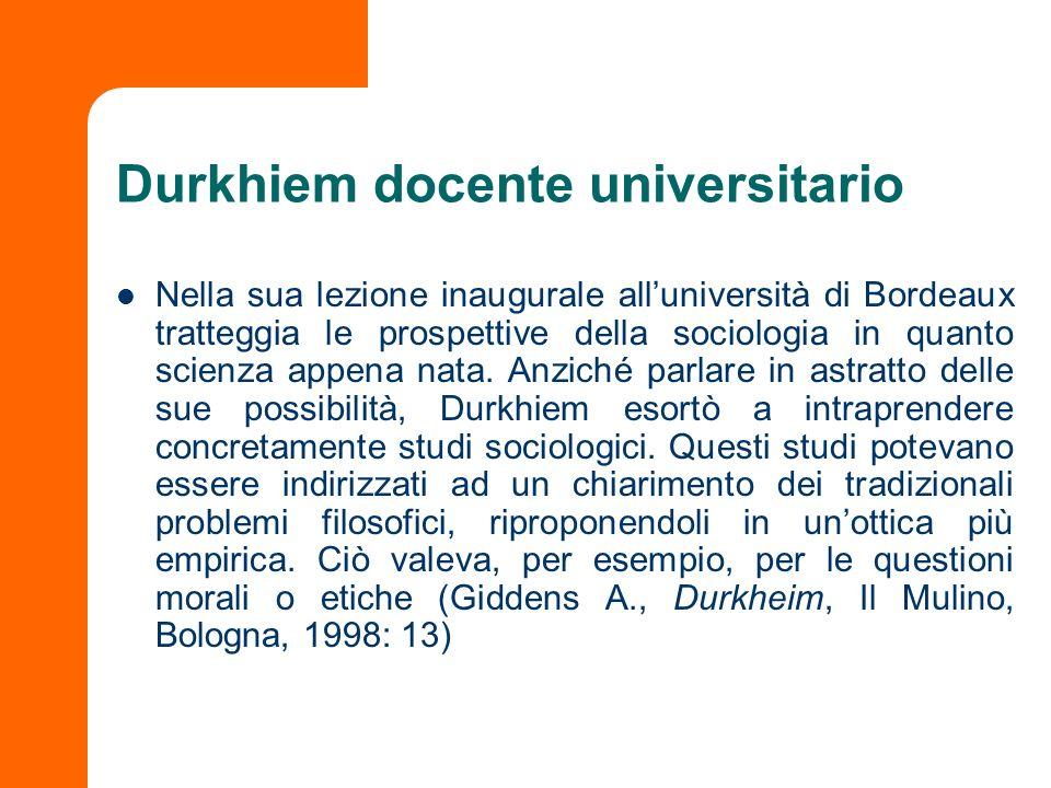Durkhiem docente universitario