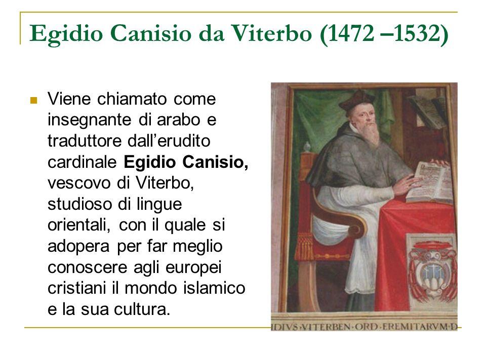 Egidio Canisio da Viterbo (1472 –1532)
