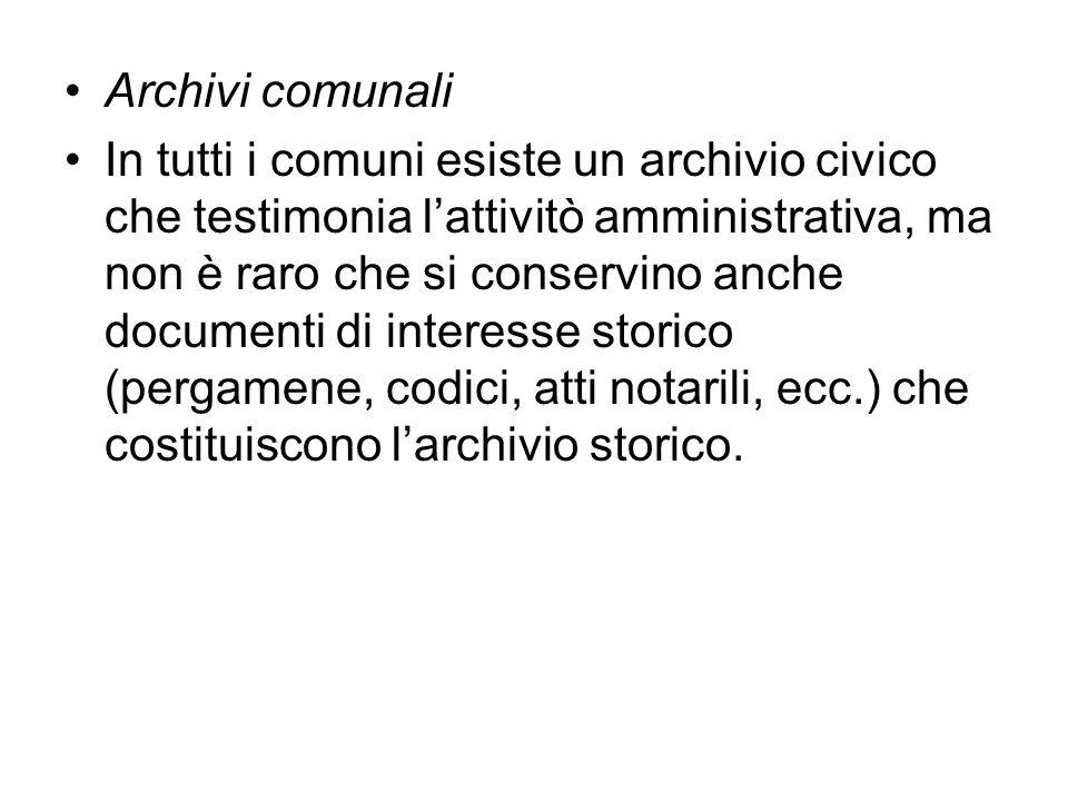Archivi comunali