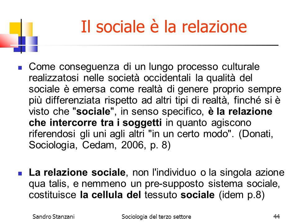Il sociale è la relazione