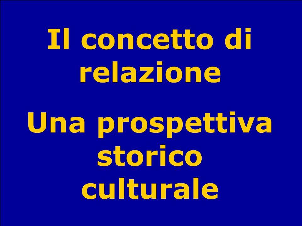 Il concetto di relazione Una prospettiva storico culturale