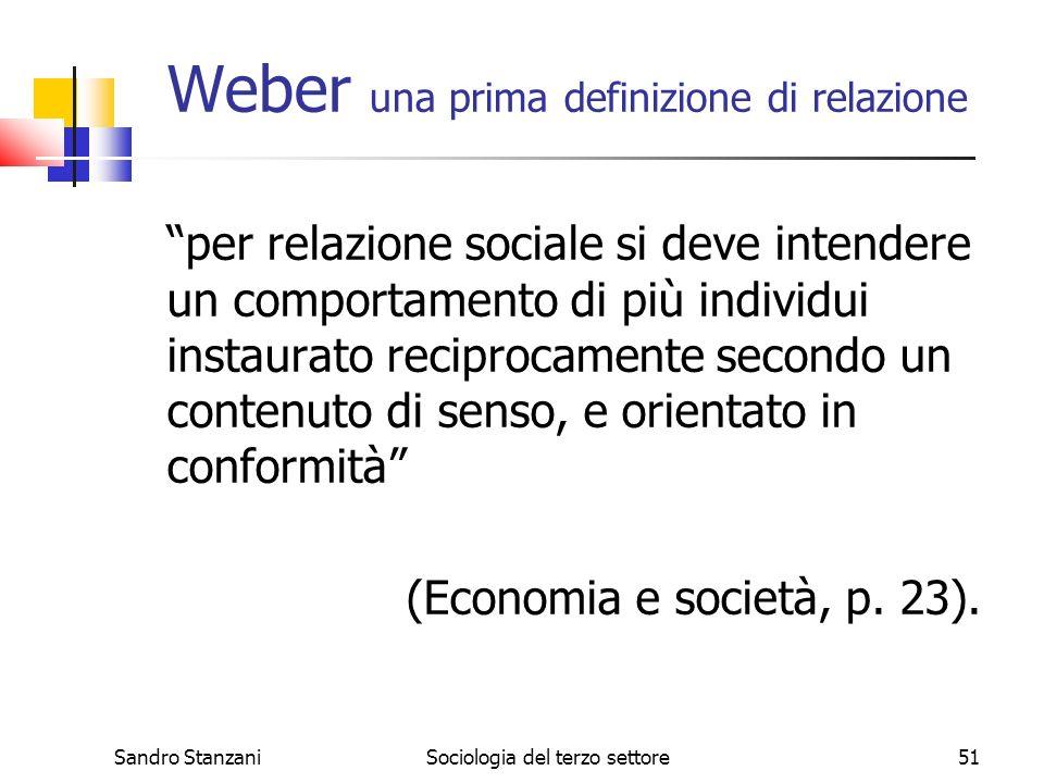 Weber una prima definizione di relazione