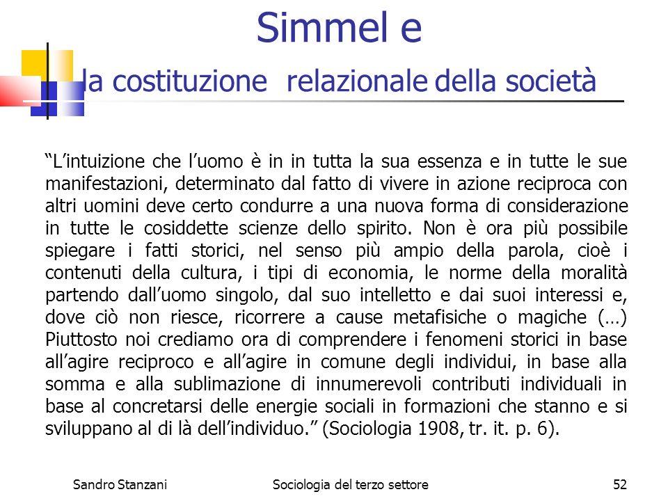 Simmel e la costituzione relazionale della società