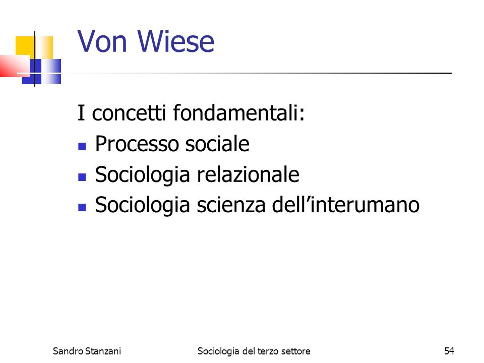 Sociologia del terzo settore