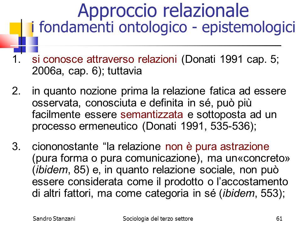 Approccio relazionale i fondamenti ontologico - epistemologici