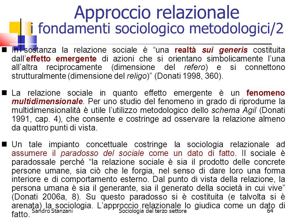 Approccio relazionale i fondamenti sociologico metodologici/2
