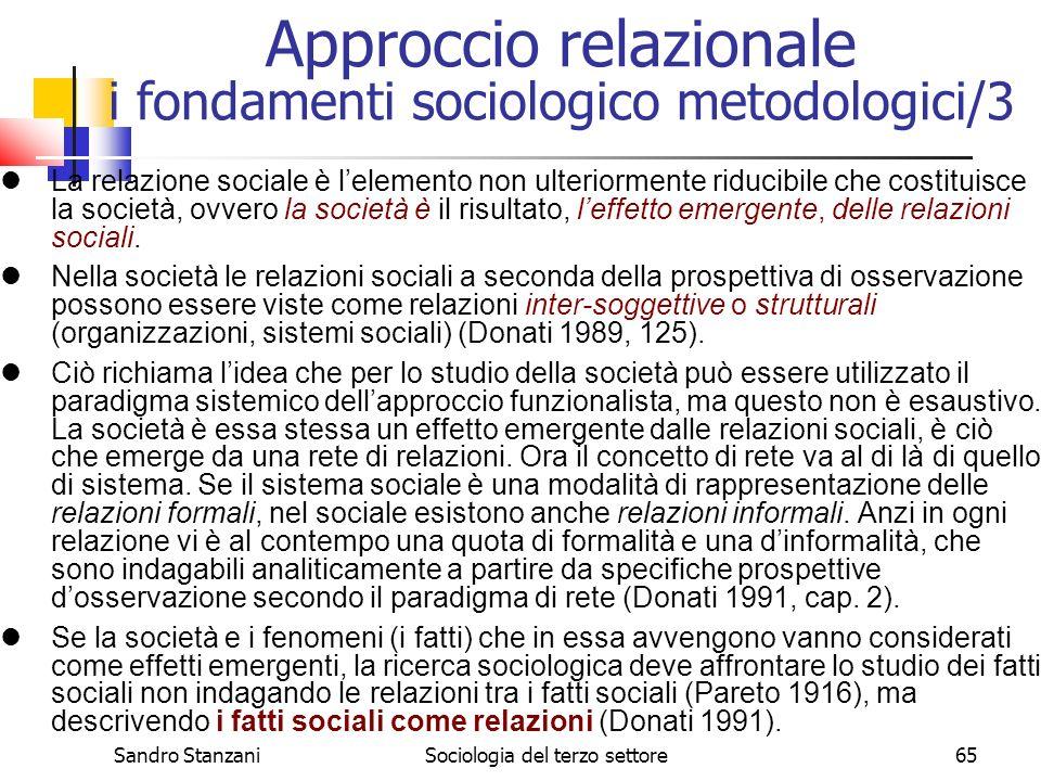 Approccio relazionale i fondamenti sociologico metodologici/3
