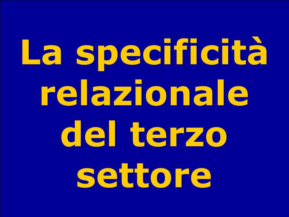 La specificità relazionale del terzo settore