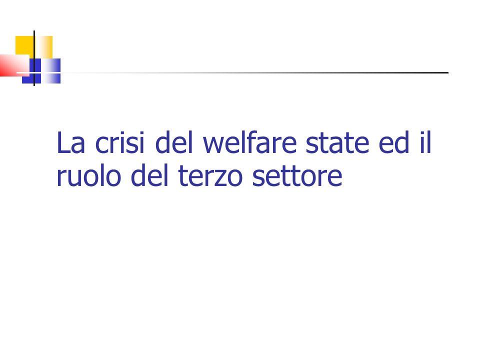 La crisi del welfare state ed il ruolo del terzo settore