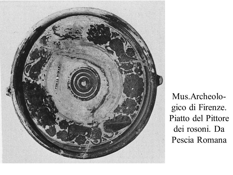 Mus. Archeolo-gico di Firenze. Piatto del Pittore dei rosoni