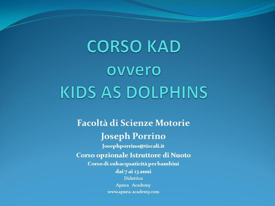 CORSO KAD ovvero KIDS AS DOLPHINS