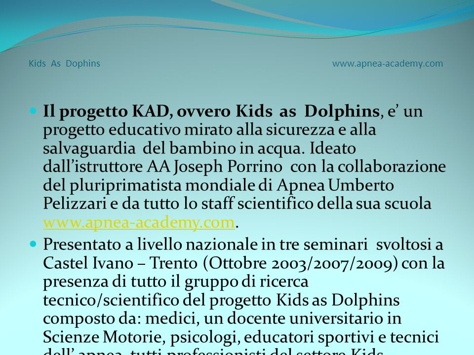 Kids As Dophins www.apnea-academy.com