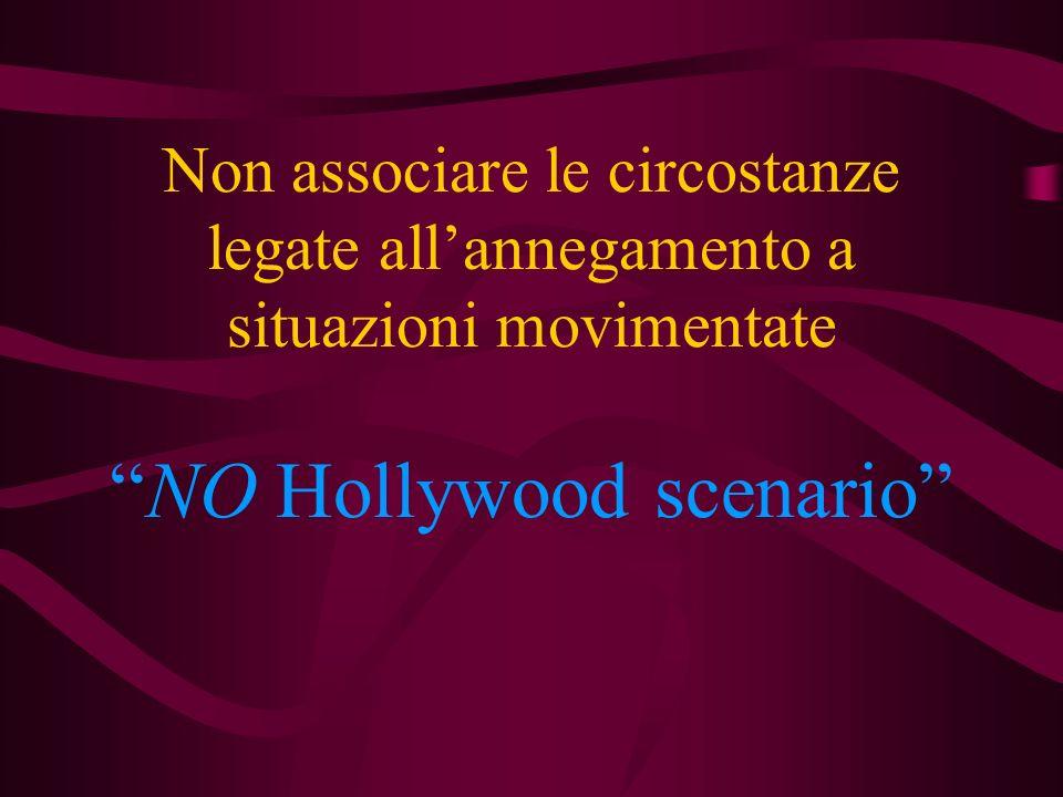 Non associare le circostanze legate all'annegamento a situazioni movimentate NO Hollywood scenario