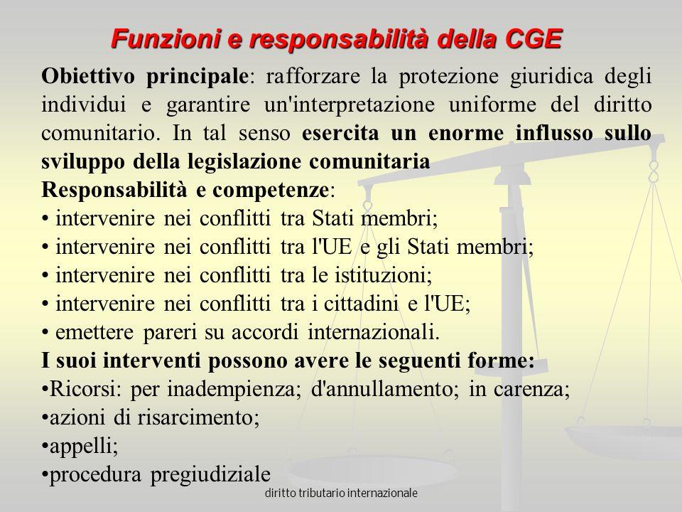 Funzioni e responsabilità della CGE