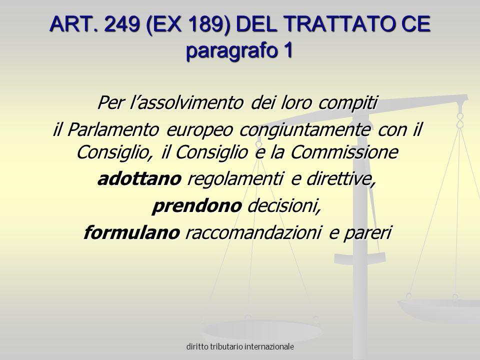 ART. 249 (EX 189) DEL TRATTATO CE paragrafo 1