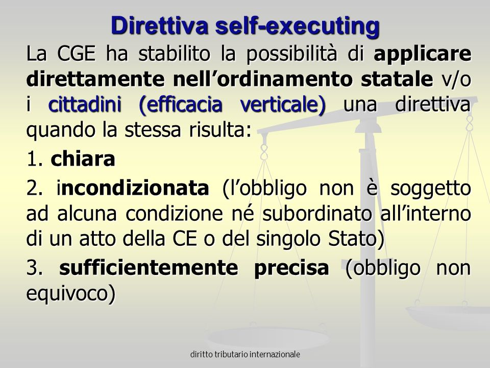 Direttiva self-executing