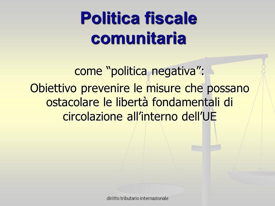 Politica fiscale comunitaria
