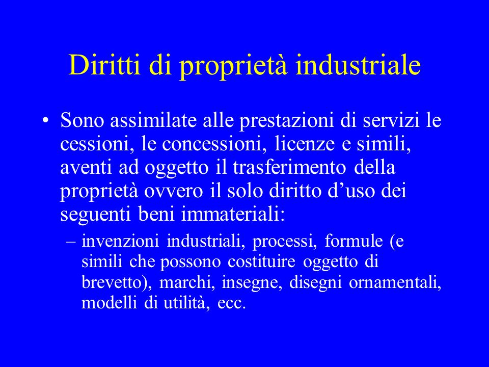 Diritti di proprietà industriale