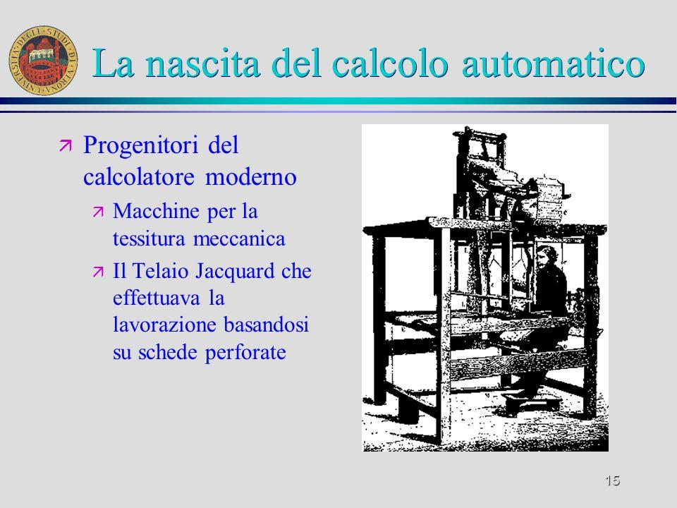 La nascita del calcolo automatico
