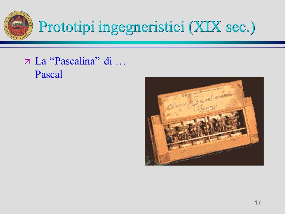 Prototipi ingegneristici (XIX sec.)