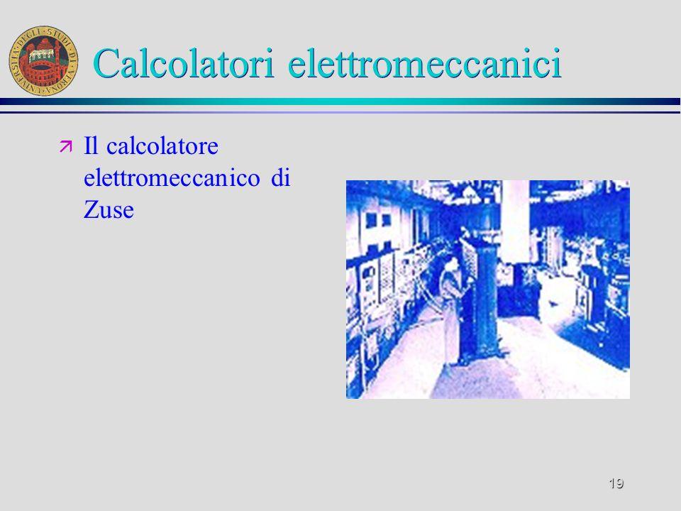 Calcolatori elettromeccanici