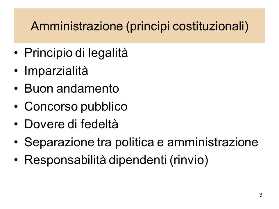 Amministrazione (principi costituzionali)