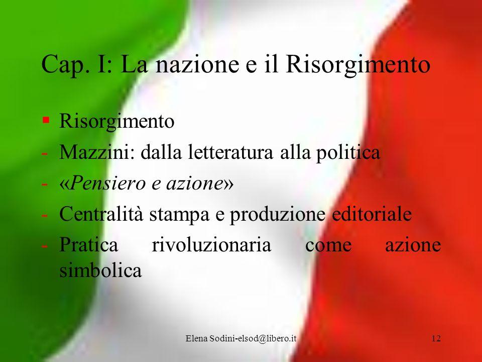 Cap. I: La nazione e il Risorgimento