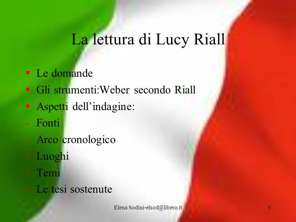 La lettura di Lucy Riall