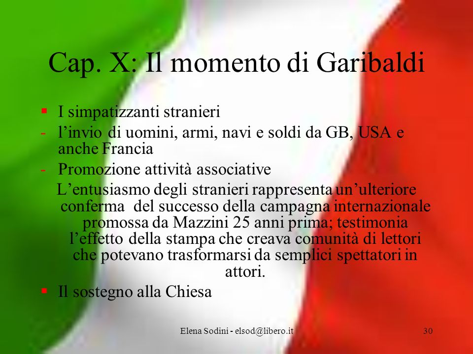 Cap. X: Il momento di Garibaldi
