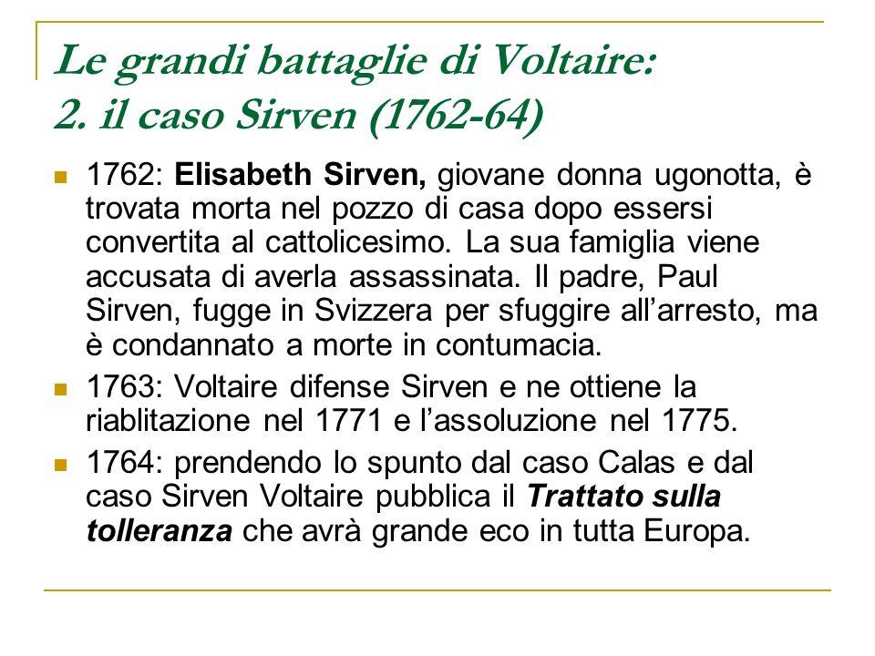 Le grandi battaglie di Voltaire: 2. il caso Sirven (1762-64)