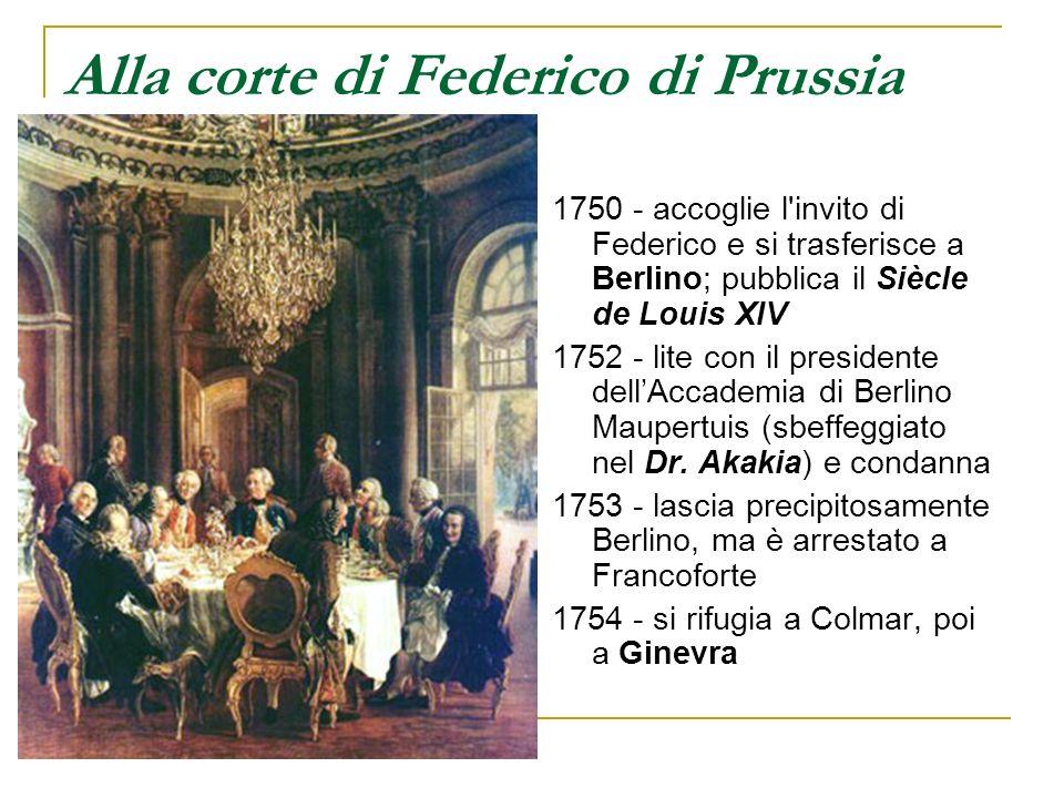 Alla corte di Federico di Prussia
