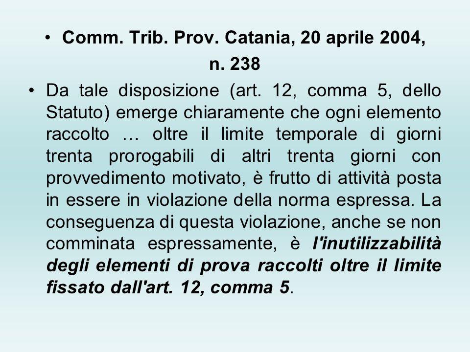 Comm. Trib. Prov. Catania, 20 aprile 2004,