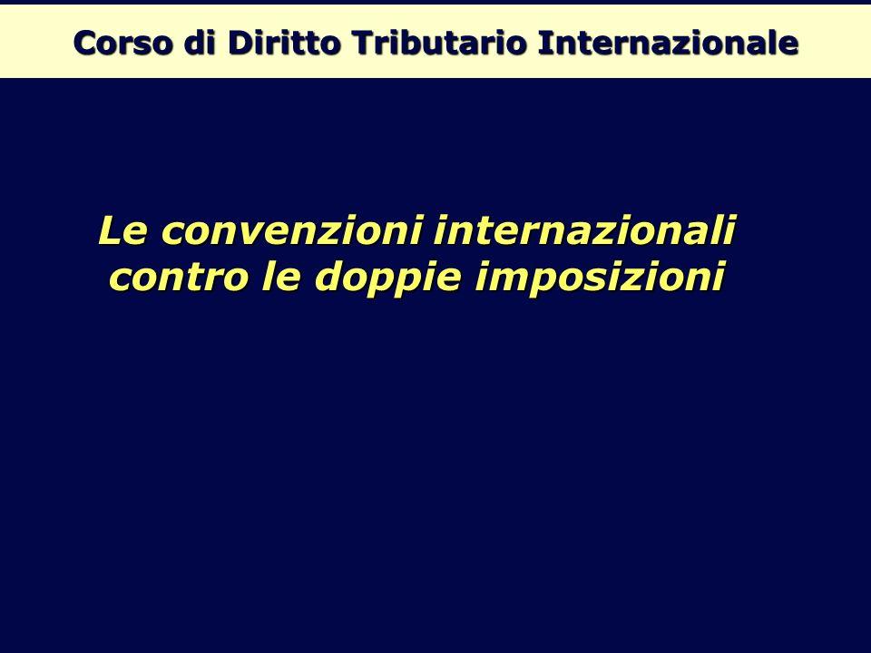 Corso di Diritto Tributario Internazionale