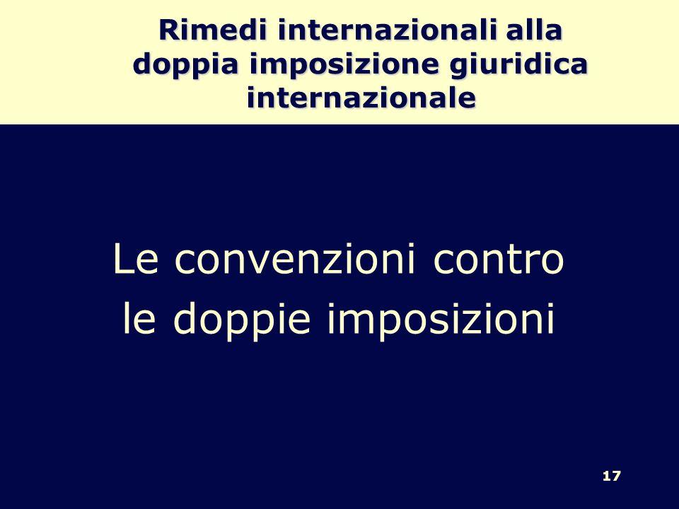 Rimedi internazionali alla doppia imposizione giuridica internazionale