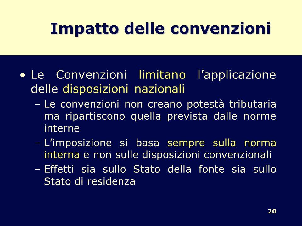 Impatto delle convenzioni