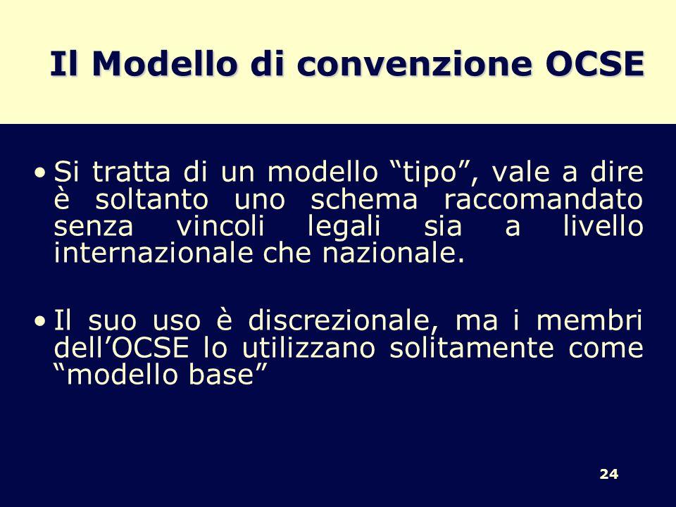Il Modello di convenzione OCSE
