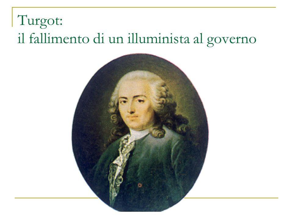 Turgot: il fallimento di un illuminista al governo