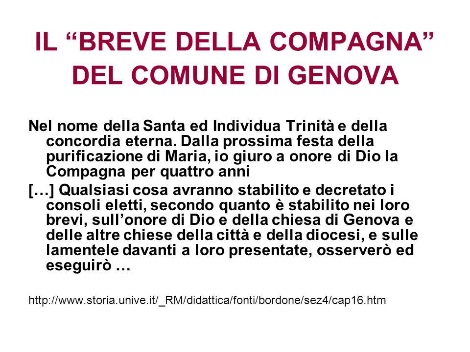 IL BREVE DELLA COMPAGNA DEL COMUNE DI GENOVA