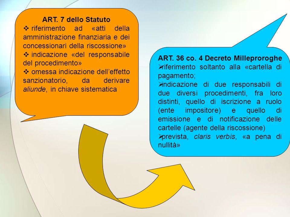ART. 36 co. 4 Decreto Milleproroghe
