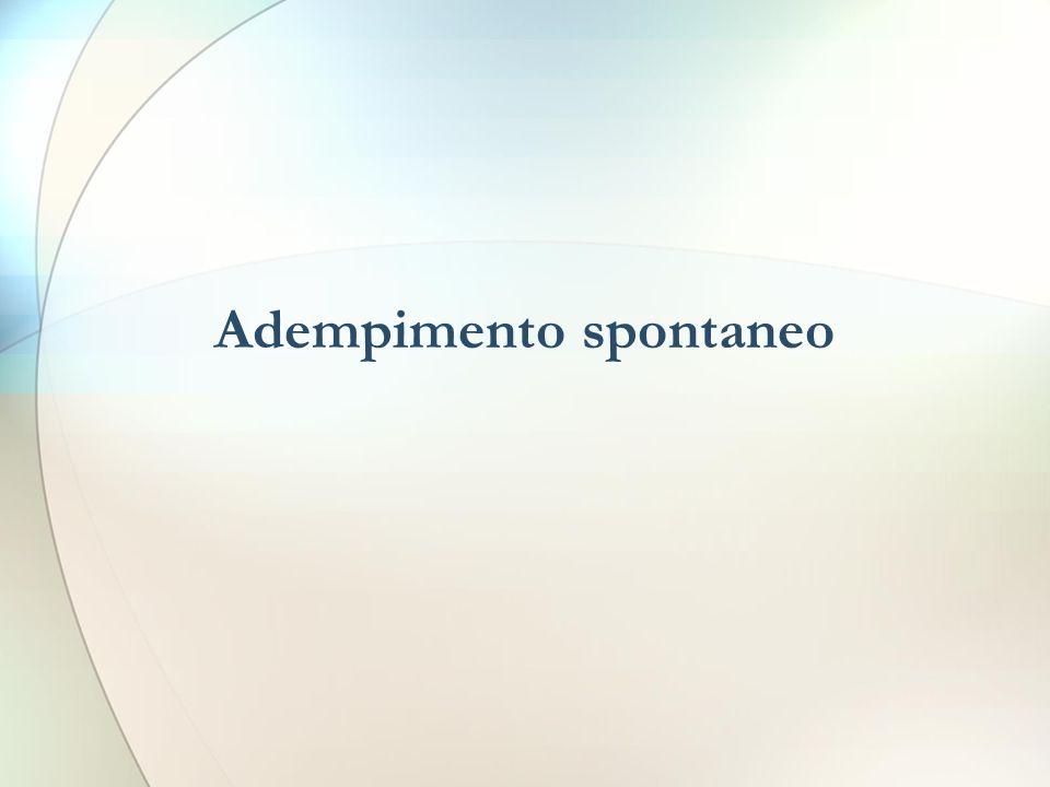 Adempimento spontaneo