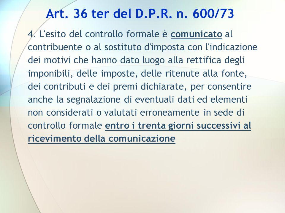Art. 36 ter del D.P.R. n. 600/73